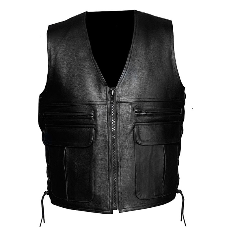 Motorbike Leather Vests